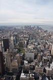 Opinião de NYC de acima Fotografia de Stock Royalty Free