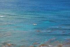 Opinião de oceano aérea de Kauai Imagens de Stock Royalty Free