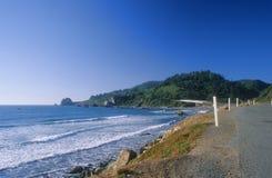 Opinião de oceano da borda da estrada Imagem de Stock Royalty Free