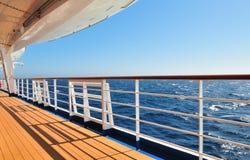 Opinião de oceano da plataforma fotografia de stock
