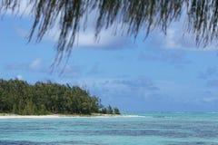 Opinião de oceano de Maurícia Fotos de Stock Royalty Free