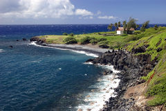 Opinião de oceano do console de Maui Fotografia de Stock Royalty Free
