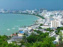Opinião de olho de pássaro da cidade de Pattaya, Tailândia Fotos de Stock Royalty Free