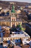 Opinião de olho de pássaro da cidade velha Imagem de Stock