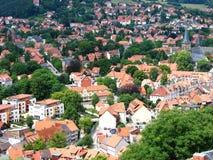 Opinião de olho de pássaro de Wernigerode, Alemanha Fotos de Stock Royalty Free