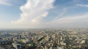 Opinião de olho de pássaros da cidade de Banguecoque video estoque