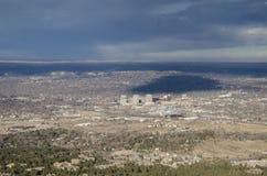Opinião de olho de pássaros de Colorado Springs imagem de stock royalty free