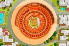 Opinião de olho de pássaros de Colosseum Foto de Stock Royalty Free