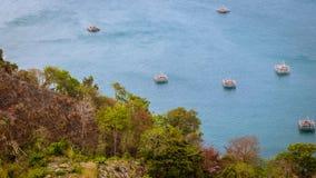 Opinião de olho de pássaros do litoral de Sukabumi imagem de stock royalty free