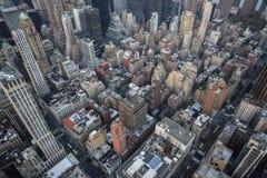 Opinião de olho de pássaros de New York City Imagens de Stock