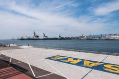 Opinião de Osaka Bay do mercado de Tempozan Imagens de Stock
