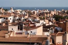 Opinião de Palma de Mallorca sobre os telhados Imagens de Stock Royalty Free