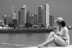 Opinião de Panama City Fotografia de Stock
