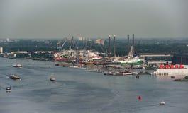 Opinião de Panoram na Amsterdão, Países Baixos Fotografia de Stock