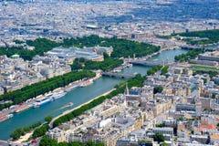 Opinião de Paris Fotos de Stock Royalty Free