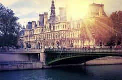 Nascer do sol de Paris foto de stock