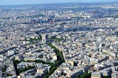 Opinião de Paris da torre Eiffel imagens de stock