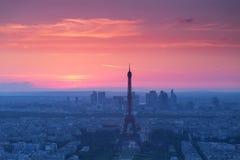Opinião de Paris de cima de Imagens de Stock Royalty Free