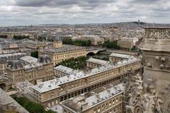Opinião de Paris de Notre Dame fotografia de stock
