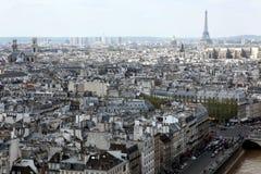 Opinião de Paris de Notre Dame Cathedral, França Fotos de Stock