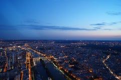 Opinião de Paris na noite Fotos de Stock Royalty Free