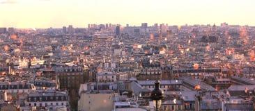 Opinião de Paris, panorama de Montmartre imagem de stock