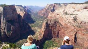 Opinião de parque nacional de Zion Fotos de Stock