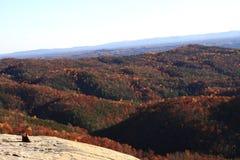 Opinião de pedra da queda do parque estadual da montanha Fotografia de Stock Royalty Free