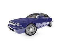 Opinião de perspectiva azul do carro ilustração royalty free