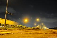 Opinião de perspectiva da passagem em Yishun fotografia de stock
