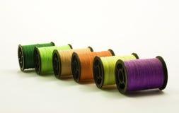 Opinião de perspectiva de bobinas coloridas Fotografia de Stock