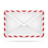 Opinião de perspectiva fechado do objeto do envelope isolada Imagens de Stock