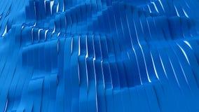 Opinião de perspectiva de listras na moda azuis, ilustração 3d Imagem de Stock