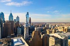 Opinião de Philadelphfia da altura imagens de stock
