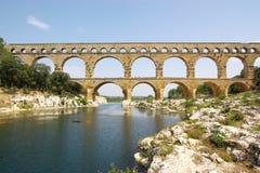 Opinião de Pont du gard Foto de Stock