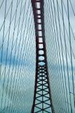 Opinião de ponte de cabo do período de baixo de fotos de stock royalty free