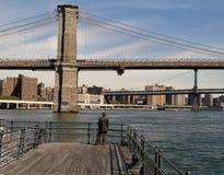 Opinião de ponte de Brooklyn fotos de stock royalty free