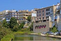 Opinião de Porto Cristo, Mallorca, Espanha Imagens de Stock