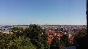 Opinião de Praga imagens de stock