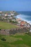 Opinião de Puerto Rico foto de stock