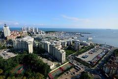 Opinião de Qingdao fotografia de stock royalty free