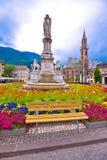 Opinião de quadrado principal e de catedral de Bolzano Imagens de Stock Royalty Free