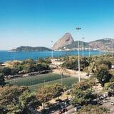 Opinião de Rio de janeiro Sugarloaf Foto de Stock Royalty Free