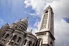 Opinião de Sacre Coeur Imagem de Stock Royalty Free