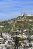 A opinião de Sacromonte do La Alhambra fotografia de stock