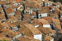 Opinião de San Donato di ninea de acima Imagem de Stock