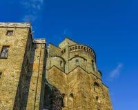 Opinião de San Michele Sacra Abbey Exterior Detail foto de stock royalty free