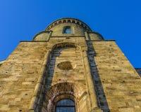 Opinião de San Michele Sacra Abbey Exterior Detail imagem de stock