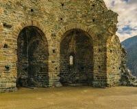 Opinião de San Michele Sacra Abbey Exterior Detail imagens de stock