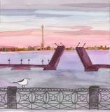 opinião de Sankt-Petersburgo Imagens de Stock